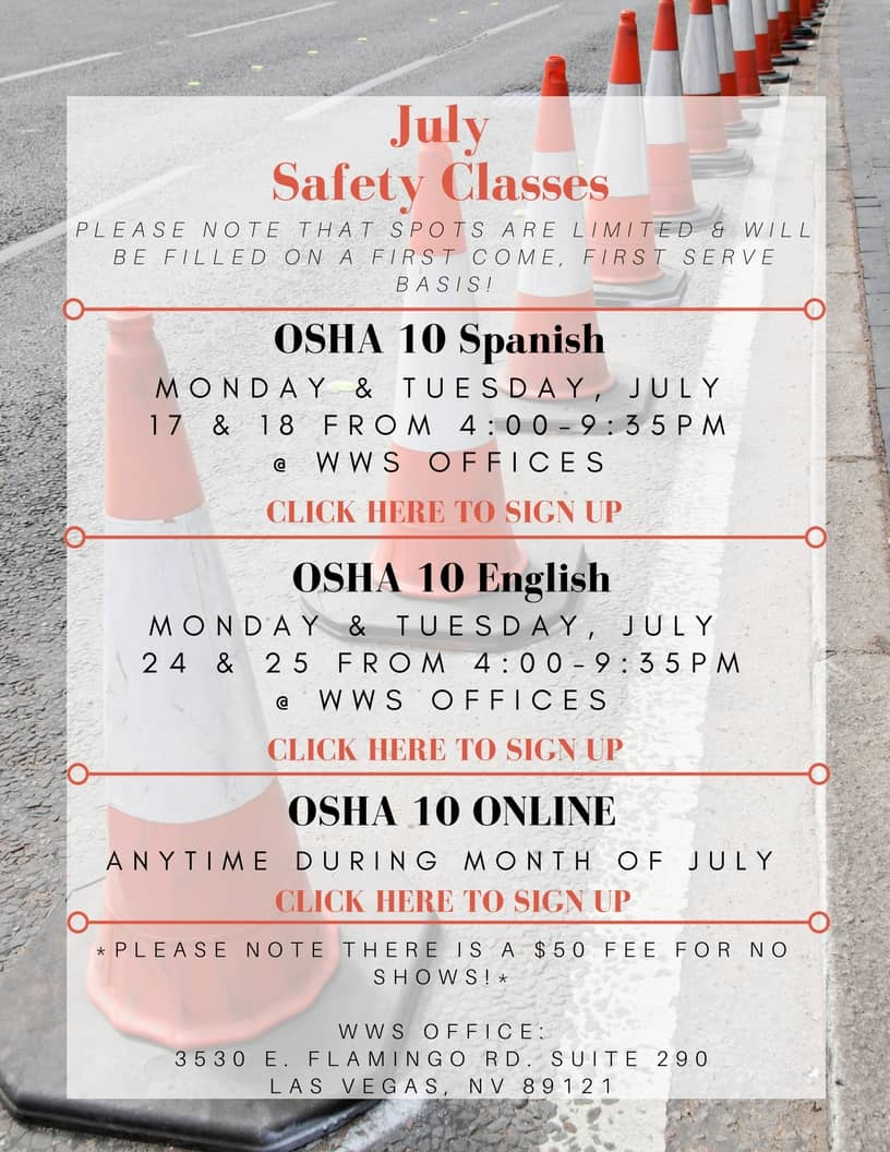 July Safety Classes_ PDF